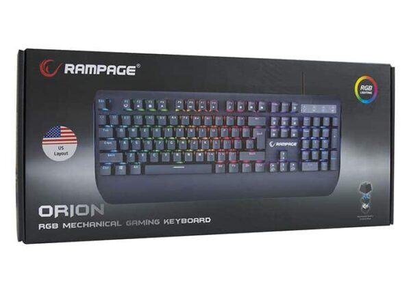 מקלדת גיימינג מכנית Rampage KB-R90 ORION