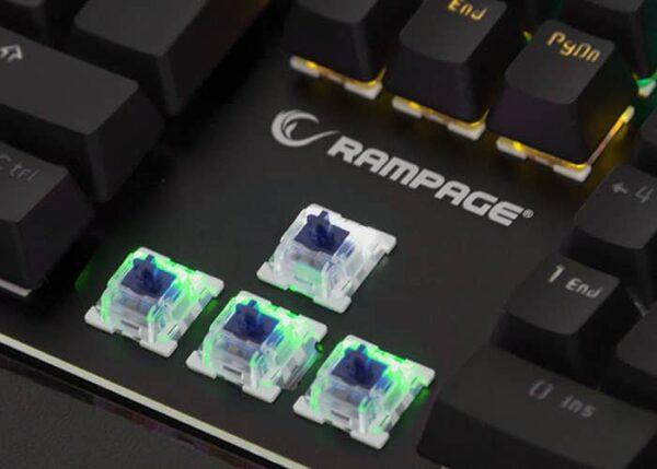 מקלדת גיימינג מכנית Rampage KB-R91 Optical Switch Waterproof
