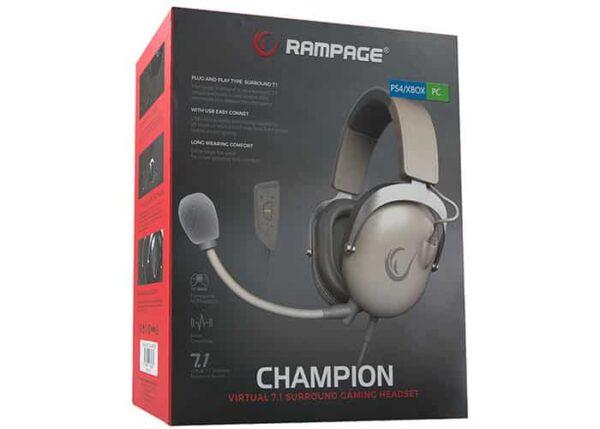 אוזניה גיימינג Rampage R81 CHAMPION