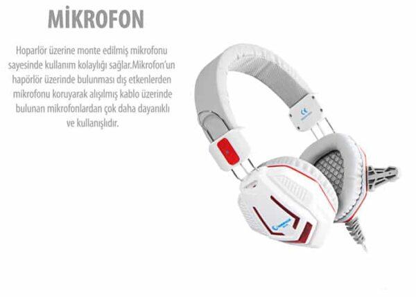 אוזנית גיימינג Rampage SN-R4 White
