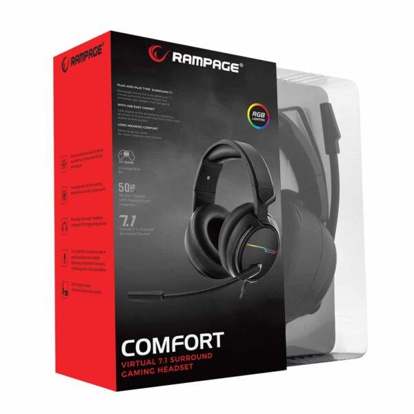אוזנית גיימינג Rampage RGW9 COMFORT 7.1