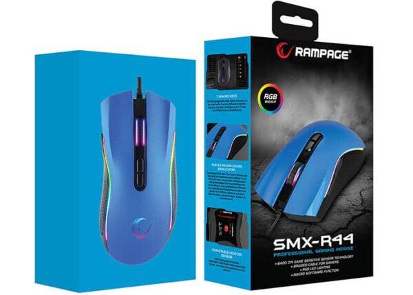 עכבר גיימינג Rampage SMX-R44 Blue