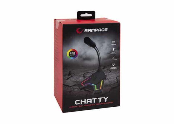 מיקרופון לסטרימרים Rampage SN-RMX2 CHATTY